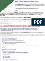 Estatisticas de SQL Server
