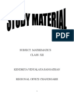 CBSE_Maths Study Material for Class 12