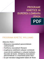 Programe Kinetice in Durerea Lombara Joasa