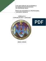 MuduloIV Comunicación y Lenguaje Ciclo Comun -Ajustado
