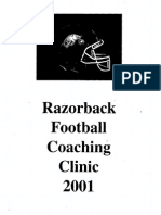 2001 University of Arkansas Coaches Clinic