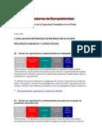 Evaluación de La Capacidad Competitiva de Su Planta