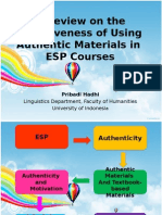 A Review on the Effectiveness of Using Authentic Materials in ESP Courses