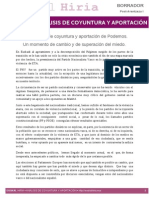 Analisis de Coyuntura y Aportacion-Borrador Post-Arantzazu-I