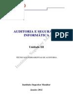 AUDITORIA E SEGURANÇA INFORMÁTICA
