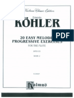 Kohler 20 Easy Melodic Progressive Exercises - Book II