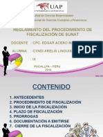 Diapositiva Reglamento Del Procedimiento de Fiscalización de Sunat