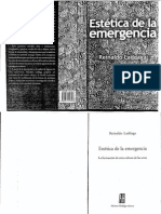 ESTETICA de LA EMERGENCIA 20266079 Laddaga Reinaldo Estetica de La Emergencia La Formacion de Otra Cultura de Las Artes 2006