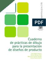 Cuaderno de prácticas de dibujo para la presentación de diseños de producto