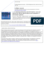 Illicit Discharge Detection and Elimination Low Cost Options for Source Identification