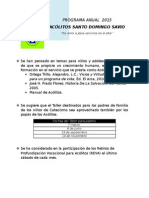 Programa Anual 2015 Acolitos Santo Domingo Savio