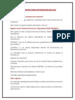 Pasos y Documentos Para Exportar en Bolivia
