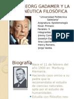 Hans Georg Gadamer y La Hermenéutica Sin Nombres