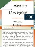 2.0 - Introduccion Al Curso de Ingles Alto Yes en Ingles 3