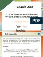 """2.12.- Clausulas Condicionales """"if"""" Con Modales de Posibilidad"""