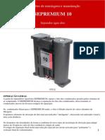 Instruções de montagem e manutenção SEPREMIUM 10