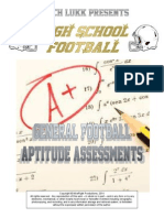 HS Football Aptitude Assessments, 2014