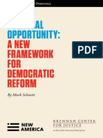 A New Framework for Democratic Reform