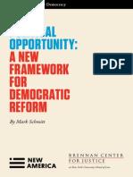 A New Framework for Democratic Reform