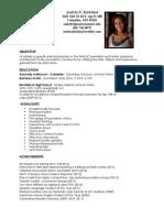 andria kirkland resume - cnbc summer fellowship