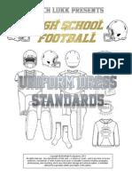 HS Football Uniform Dress Standards, 2015