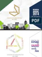Memoria Anual 2014 -  Del Decano Nacional y Del Consejo Nacional