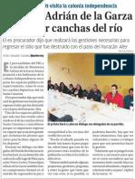 04-02-2015 Promete Adrián de la Garza recuperar canchas del río