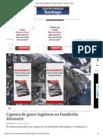 Captura de Gases Fugitivos en Fundición Altonorte » Minería Chilena