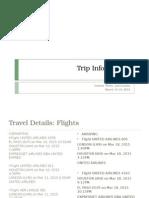 trip information