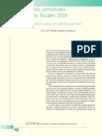 Deducciones Personales y Estímulos Fiscales 2014. Un Pequeño Alivio Para Los Contribuyentes