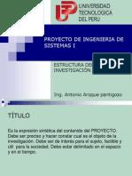 Estructura Del Proyecto Estructura del Proyecto de Investigacion Aplicadade Investigacion Aplicada