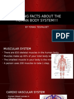 amazing facts about the human body system!!!