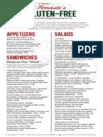 ferrante's menu gluten free