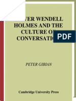Gibian, Oliver Wendell Holmes and the Culture of Conversation (2001)