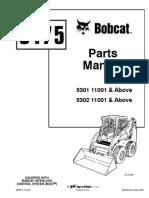 bobcat s175 parts manual serial 5301 11001 & above, 5302 11001 & above  bobcat s175 parts diagram #7