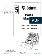 Bobcat S175 Parts Manual Serial 5301 11001 & Above, 5302 11001 & Above