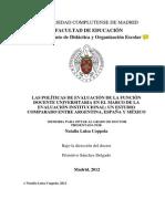 Tesis Sobre La Funcion Docente Universit. en Arg. Mex y España