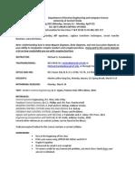 Syllabus EEL 3657 Spring 2015