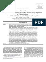 Sleep Predictors and Sleep Patterns _ Carskadon