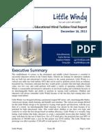 Little Windy Team 2D ME 340 Final Report