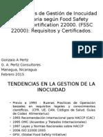 Sistemas de Gestion de Inocuidad Segun FSSC 22000 2014 por Gonzalo A Pertz