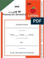 Planeaciones 1er Grado - Bloque 3 - Español