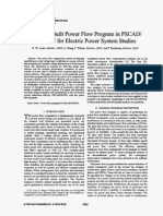 A Newly Built Power Flow Program in PSCAD-EMTDC for Electric Power System Studies