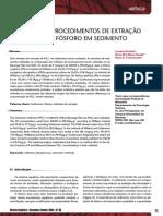 Avaliação de Procedimentos de Extração Sequencial de Fósforo Em Sedimento