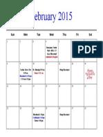 feb2015 calendar