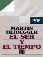 HEIDEGGER Ser y Tiempo Trad de J Gaos
