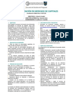 Especializacion Mercado Capitales Posgrado Uba