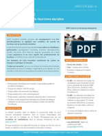 Master Management Tourisme Durable Univ Toulon