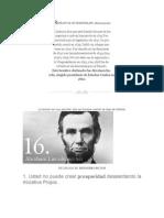 Retrato de Un Perseverate. Abram Lincoln
