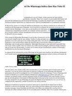 El 'Doble Check' Azul De Whatsapp Indica Que Has Visto El Mensaje